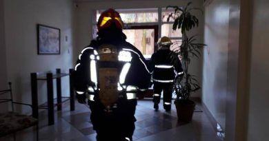 Bomberos asistieron un principio de incendio en el centro de la ciudad