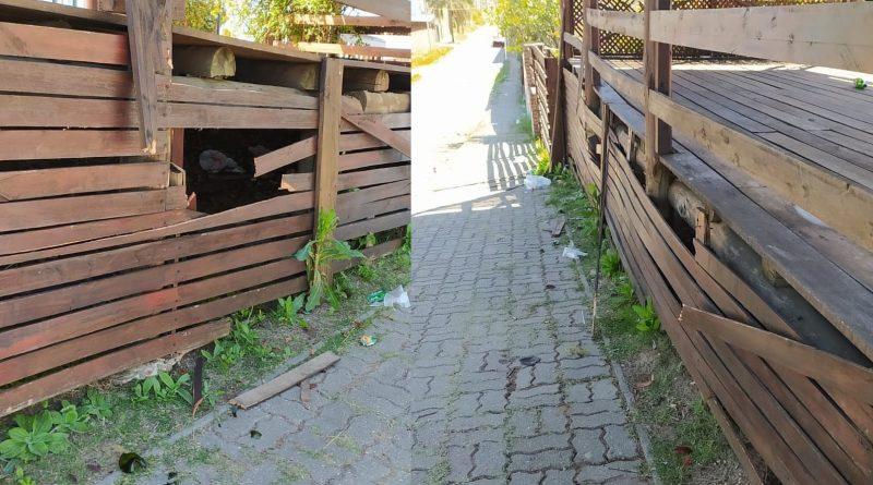 21/09/21 – «Festejos por el día de la Primavera –  Actos de vandalismo en el Faro de la Defensa Sur»